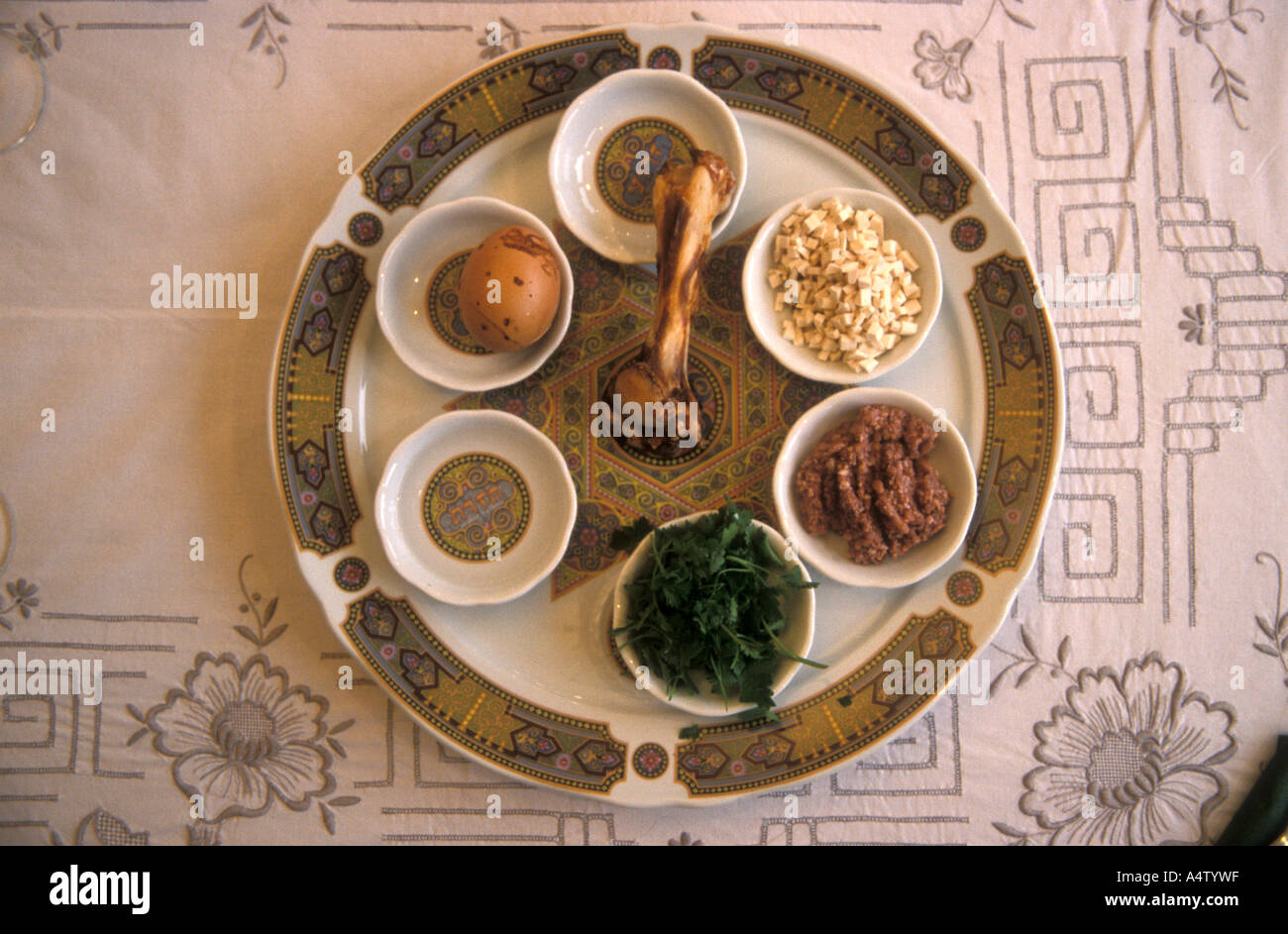 Seder Plate Is A Central Observance On The Jewish Passover