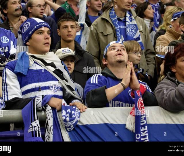 Fans Of Schalke 04 Football Club At The Veltins Arena Gelsenkirchen Germany