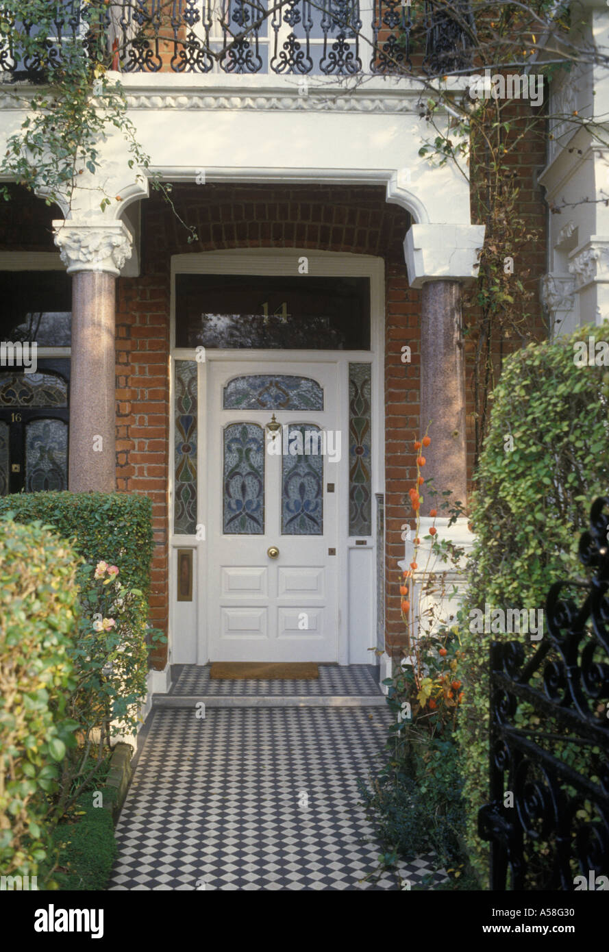 Fulham South West London UK Typical Front Door Porch And