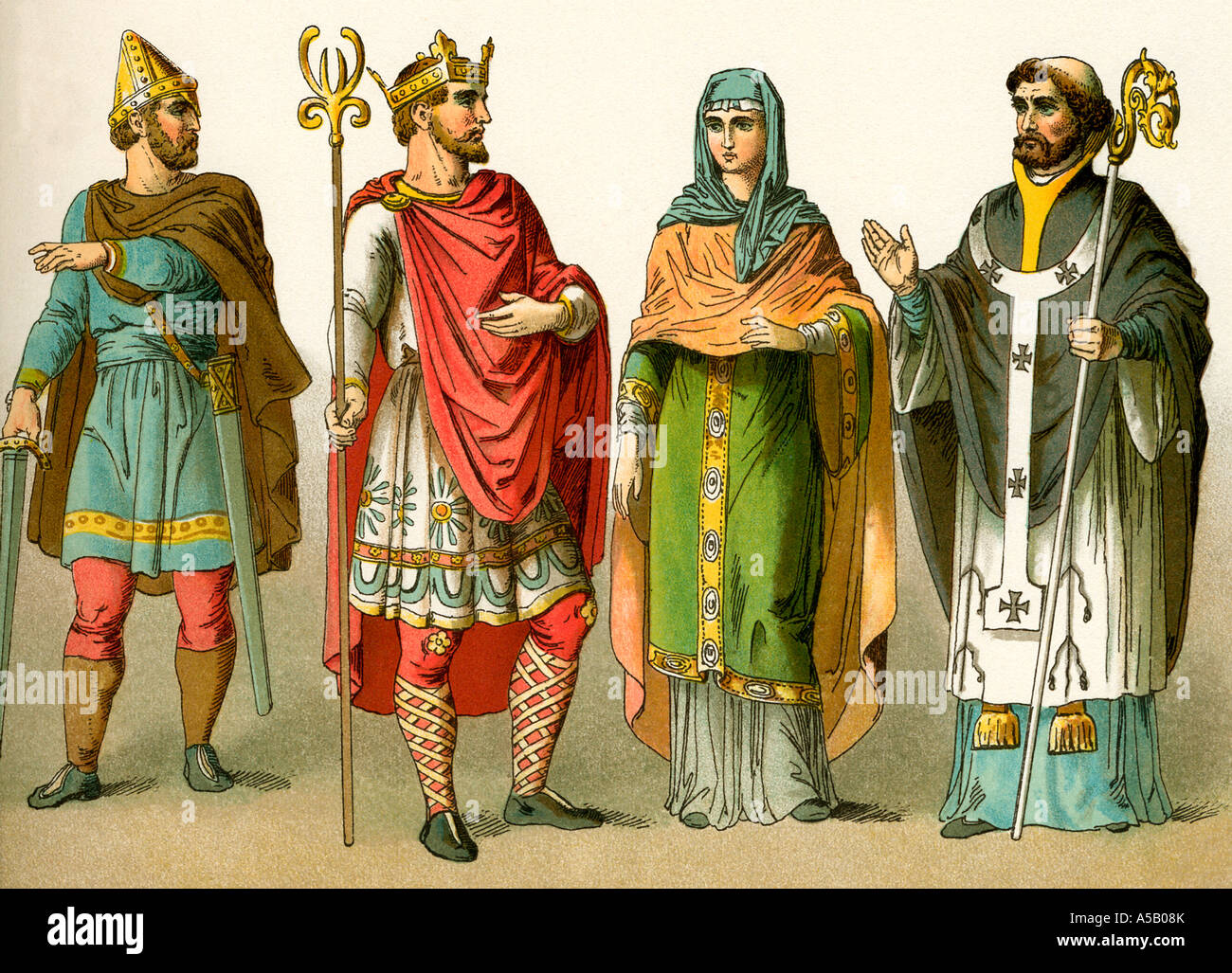 Anglo Saxon Warriors And Kings Stock Photo