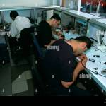 Men At Work In A Mobile Phone Repair Shop Beirut Stock Photo Alamy