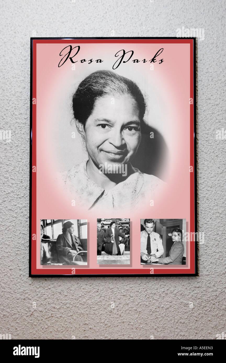 https www alamy com rosa parks framed poster image6450386 html