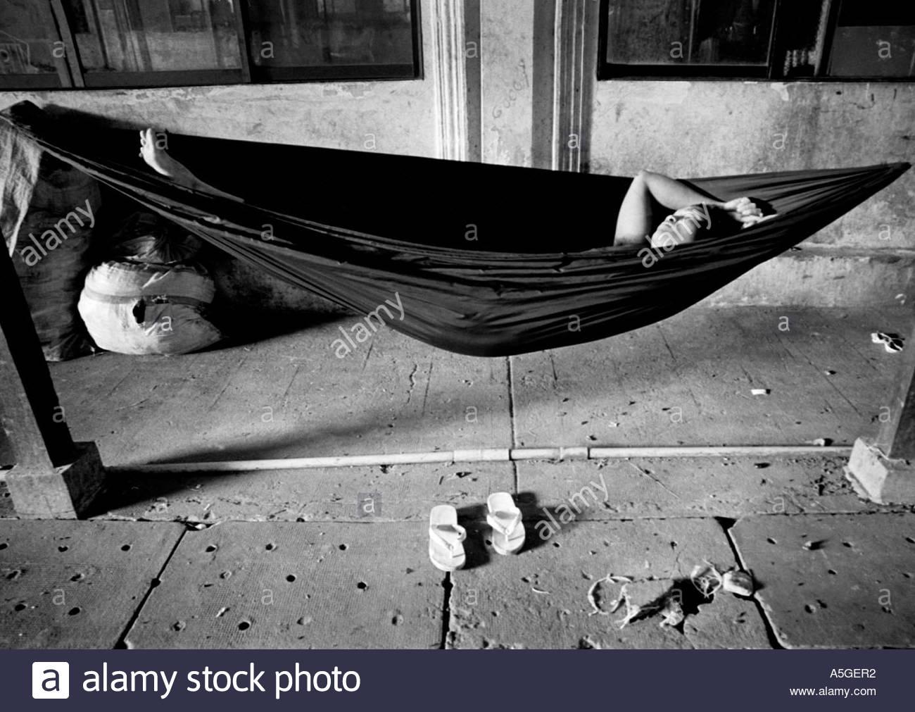 Sleeping Hammock Black And White Stock Photos Amp Images