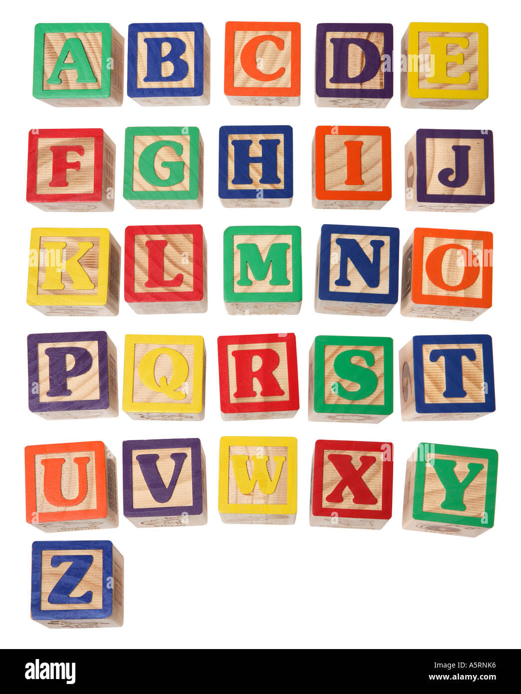 Alphabet Blocks A Z Stock Photo Royalty Free Image