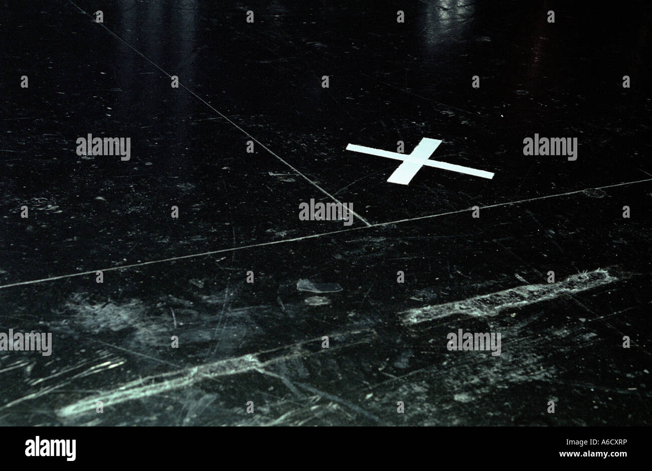 A Cross On Stage To Mark Where A Performer Should Stand Like X Marks Stock Photo Royalty Free
