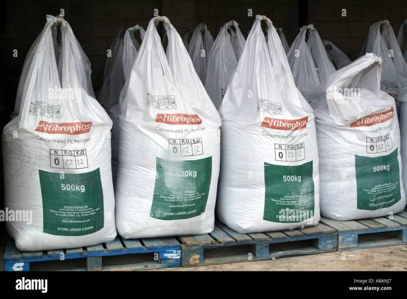 Chemical Fertilizer Containers Plastic Bags In Storage Shed