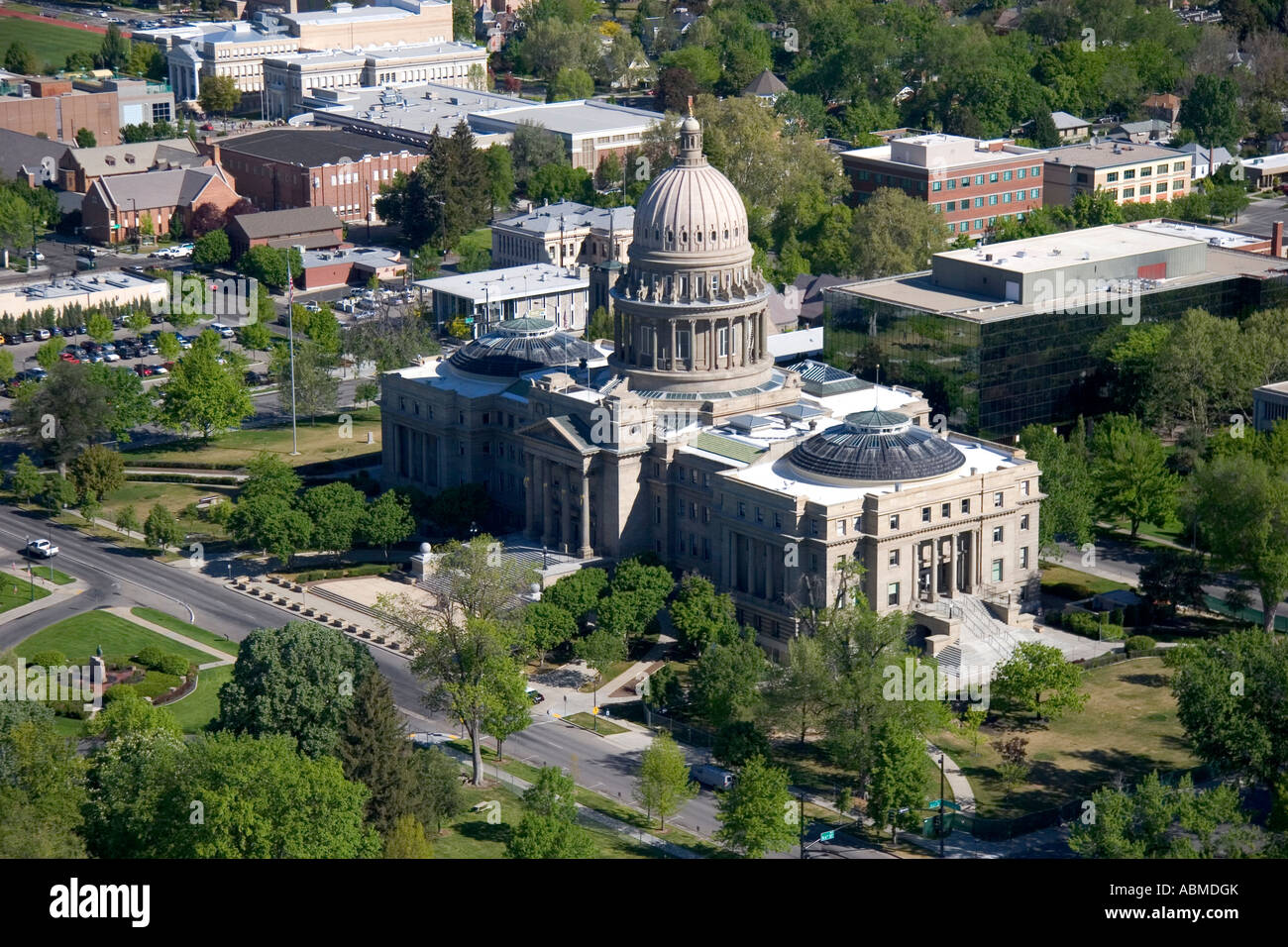 Aerial View Of The Idaho State Capitol Building In Boise