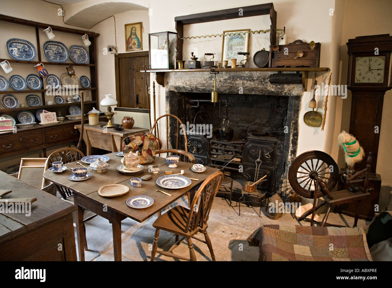 Museum Display Of Welsh Farmhouse Kitchen Dating From