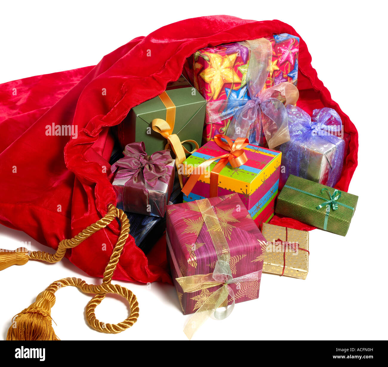 Santa S Bag And Ts Stock Photo