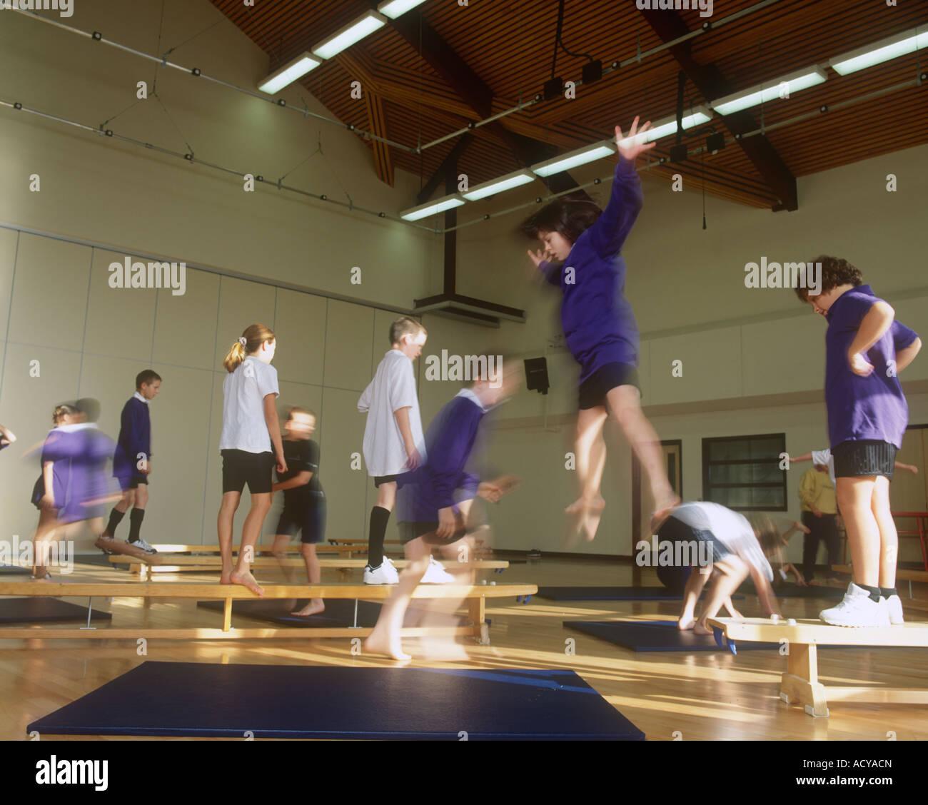 Gym Class Physical Education Pe Gymnasium School Stock