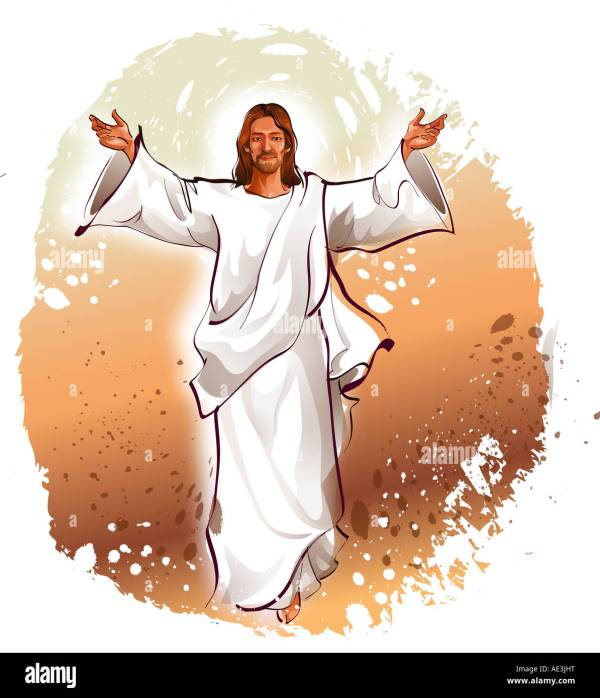 Jesus Christ blessing with his arms outstretched Stock ...