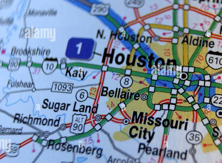 HD Decor Images » Map usa houston texas Close up map of Houston Texas USA Stock Photo 2552426 Alamy