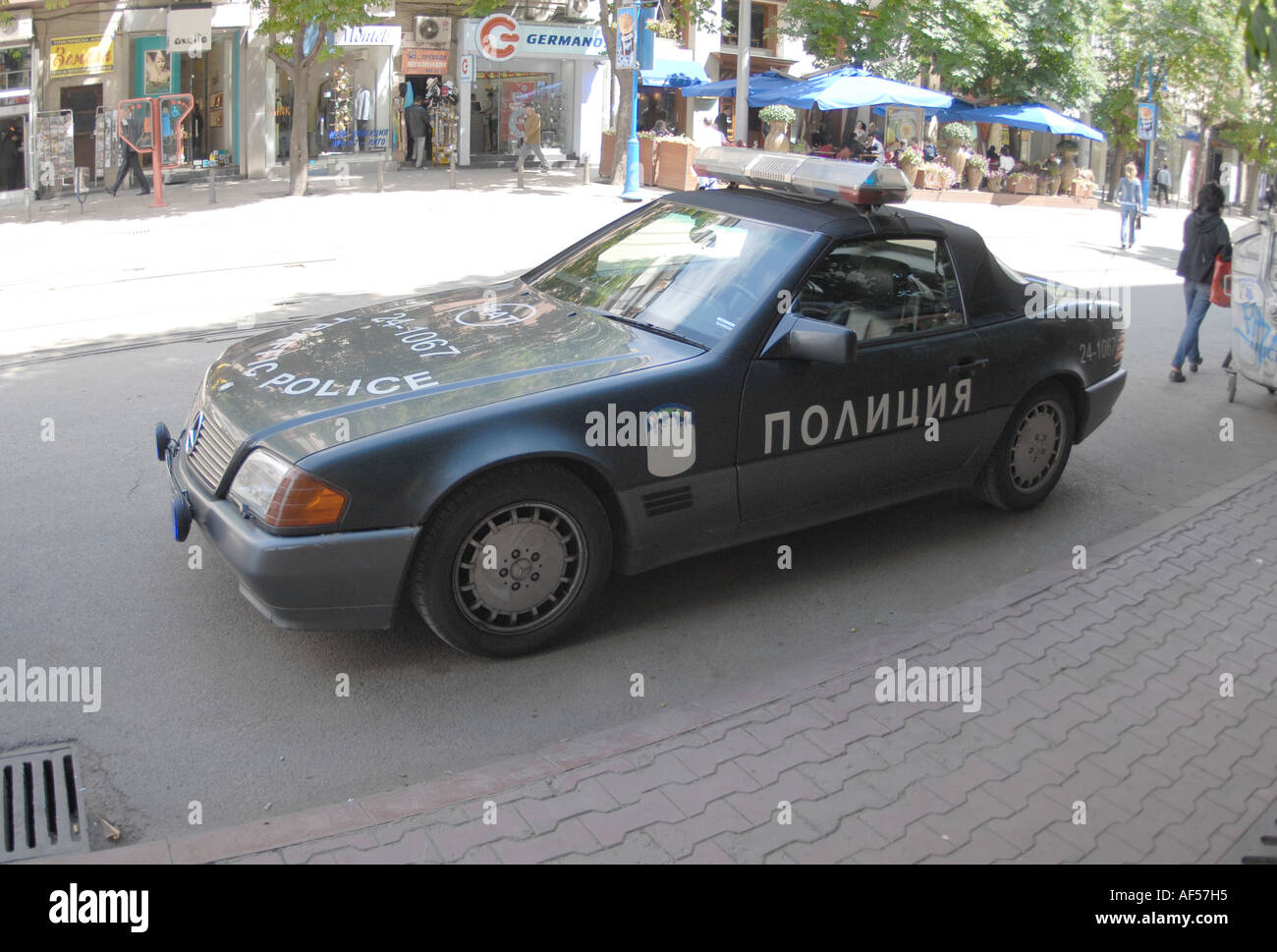 Bulgarian Police Car Mercedes Sl R129 Shape Stock Photo