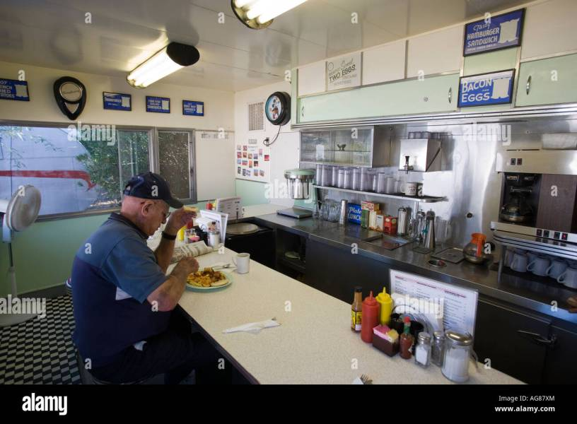 Interior of Dots Diner Shady Dell RV Park Bisbee Arizona Stock Photo     Interior of Dots Diner Shady Dell RV Park Bisbee Arizona
