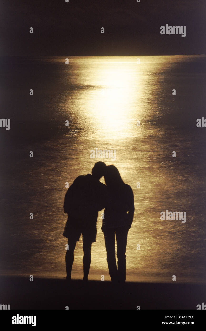 Love Couple In Moonlight High Resolution Stock Photography And Images Alamy