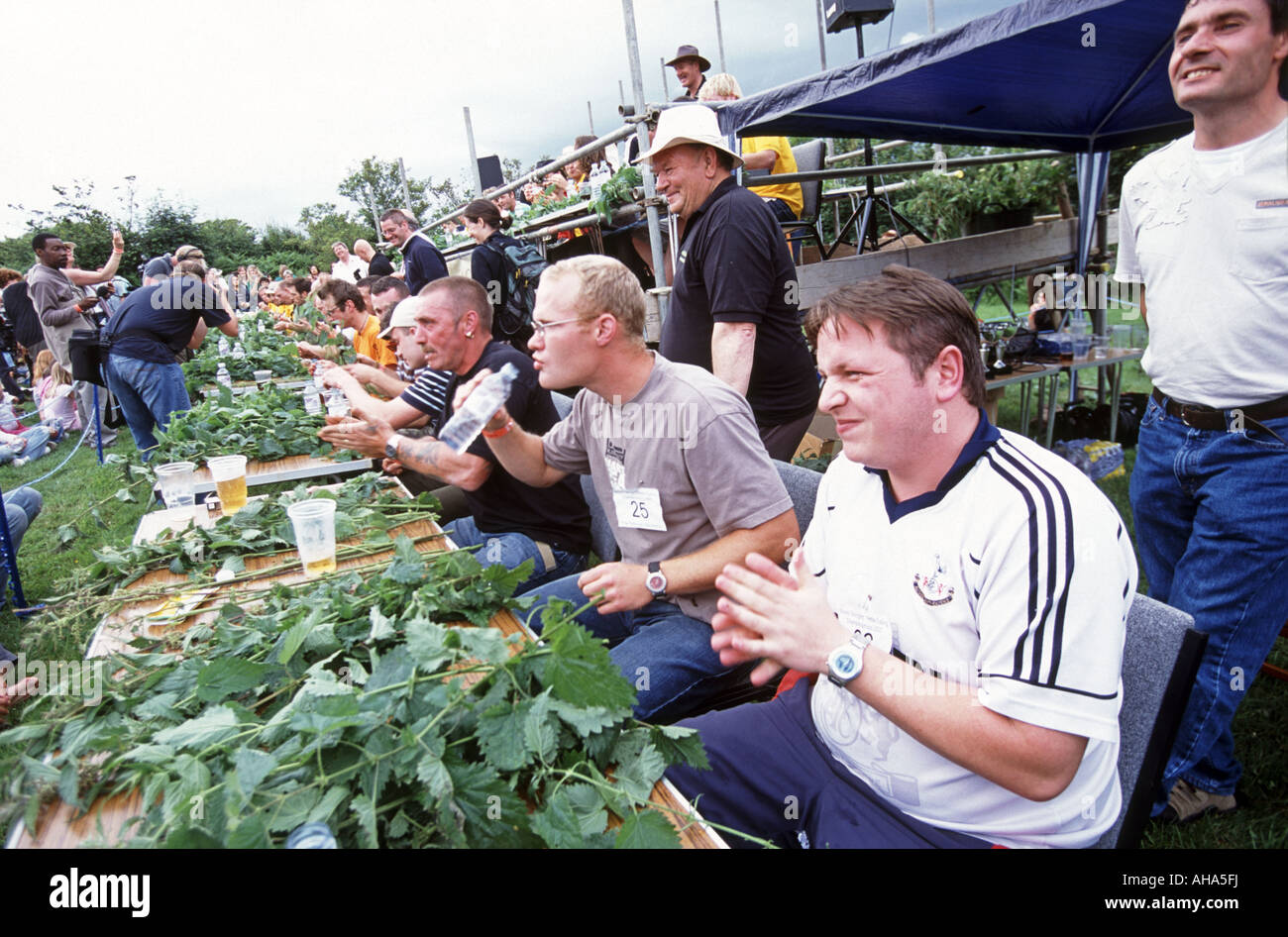 Nettle Eating Championships At The Bottle Inn Marshwood