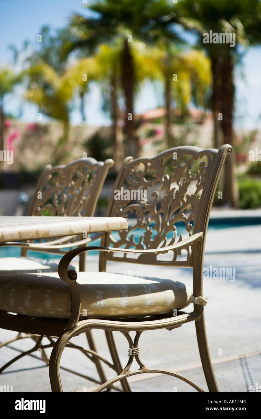 https www alamy com stock photo wrought iron patio furniture 14857270 html