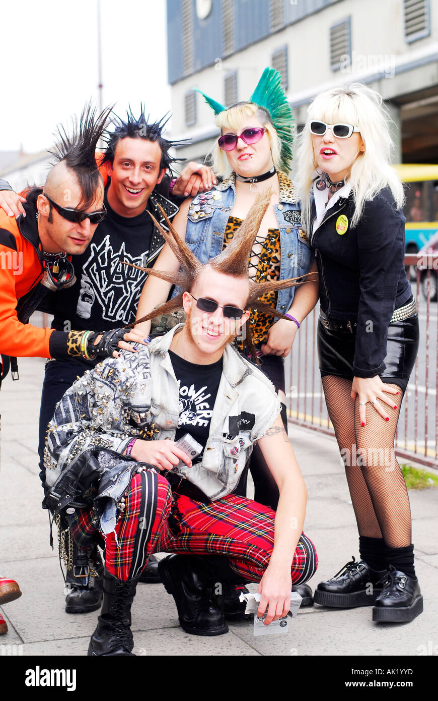 Punk Rockers Arrive For The Wasted Festival In Blackpool