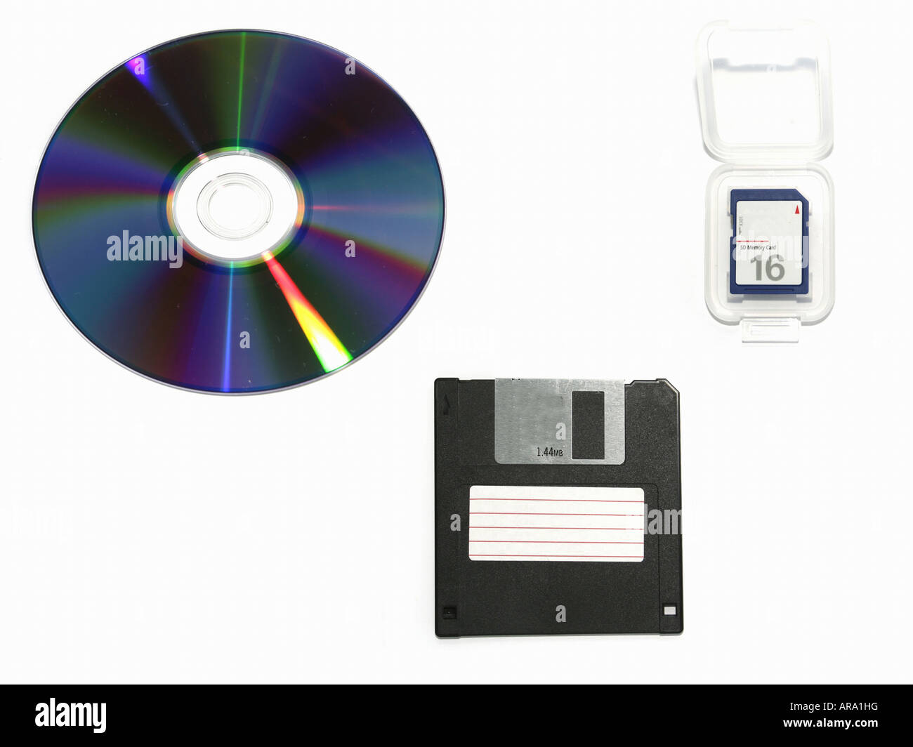 Pc Components Cd Rom Floppy Disk Memory Stock Photo