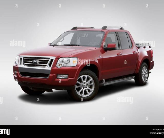 2007 Ford Explorer Sport Trac Limited In Red Front Angle View