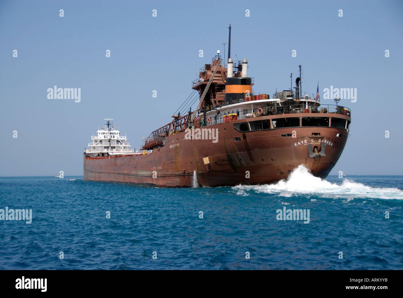 Kay E Barker Lake Freighter Sail On The Great Lakes Lake