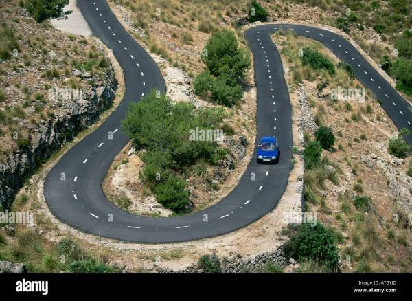 how to drive car or motor bike around a hairpin bend of a - HD1300×950