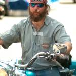 Bearded Biker High Resolution Stock Photography And Images Alamy