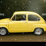 The Fiat 500 Abarth In Yellow Stock Photo Alamy