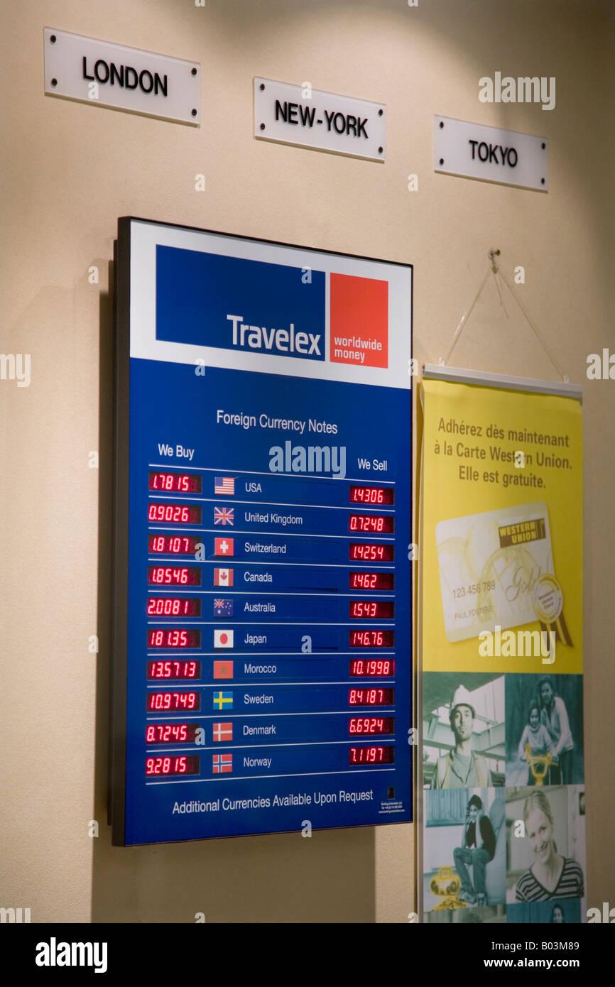 travelex bureau de change at bruxelles midi station brussels belgium