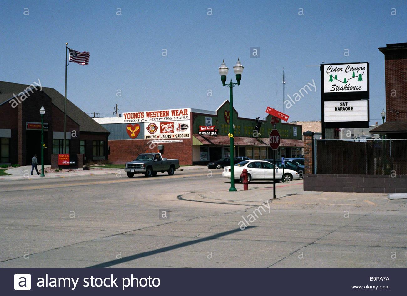Main Street Valentine Nebraska USA Stock Photo Royalty