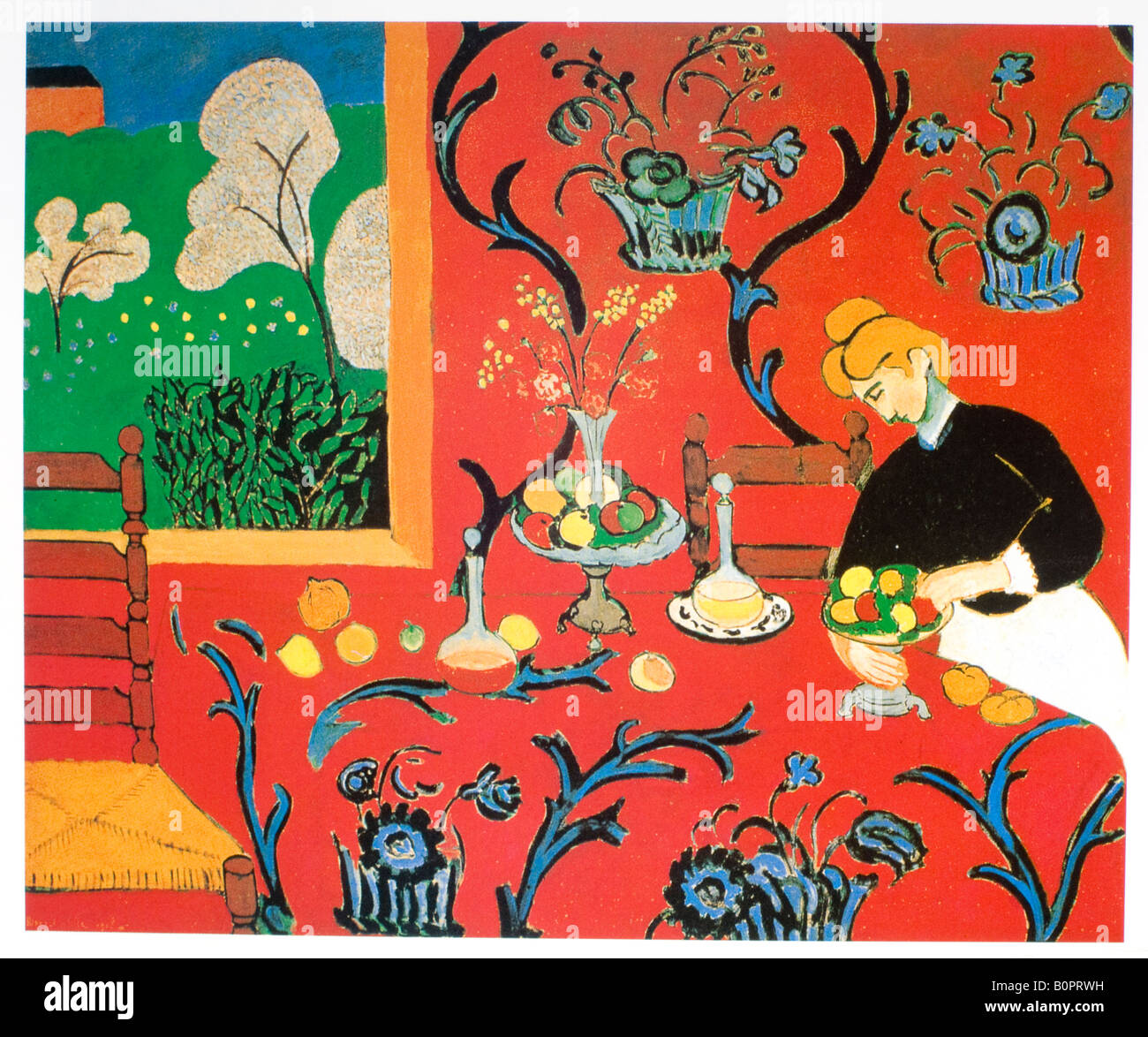 Harmony In Red The Red Dining Table 1908 Henri Matisse