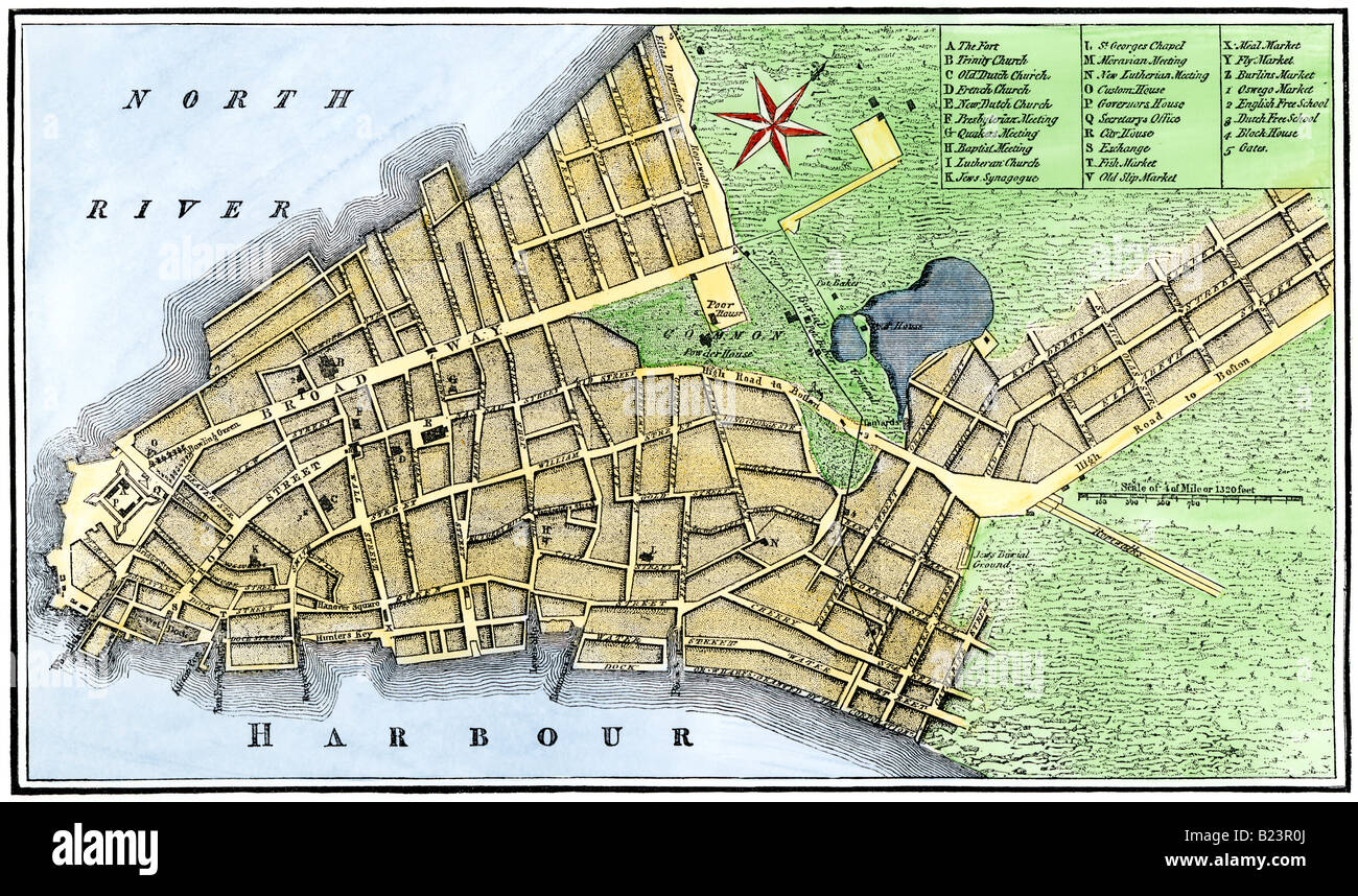 Map of New York City in 1767 Stock Photo  18523586   Alamy Map of New York City in 1767