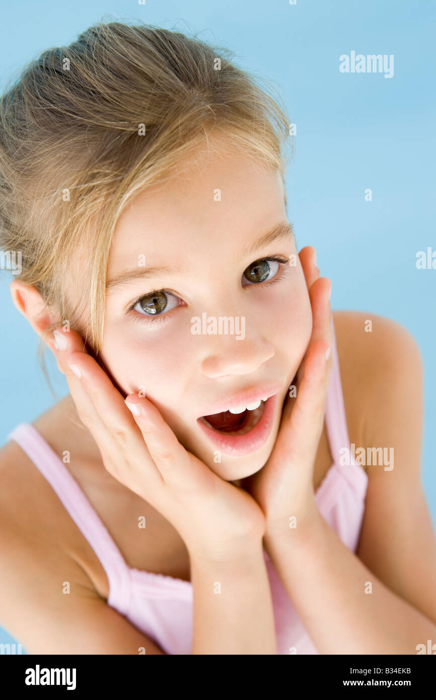 Young girl excited and surprised Stock Photo: 19153663 - Alamy on Small:zikqrscfop8= Teenage Girls  id=52172