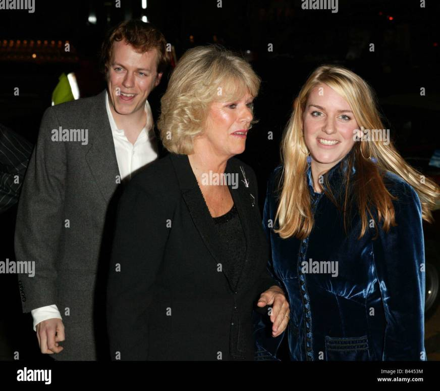 Camilla Parker Bowles with son Tom Parker Bowles and ...