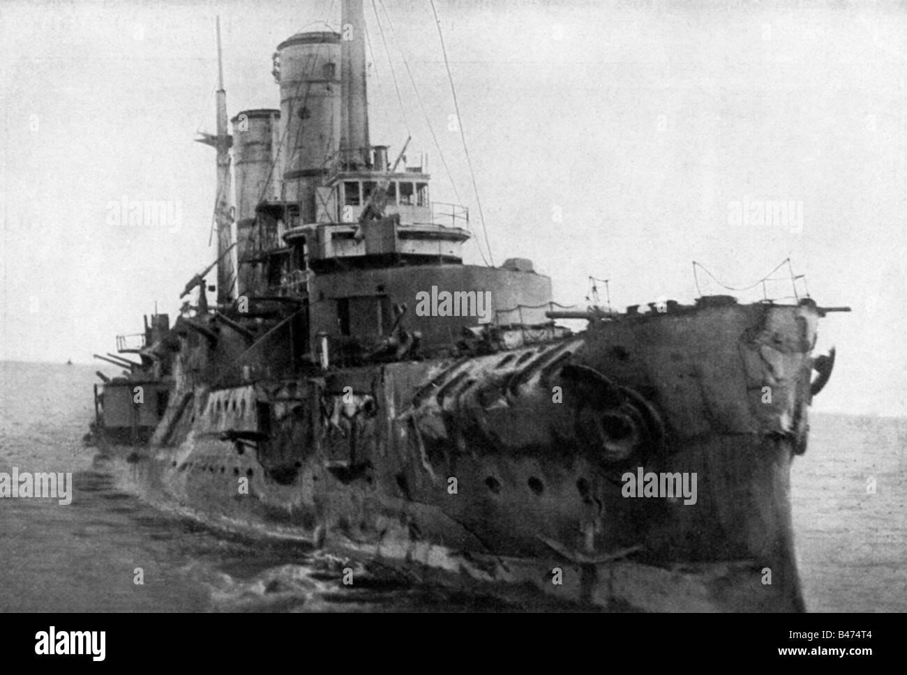 Events First World War Wwi Naval Warfare Battle Of Moon Sound Stock Photo
