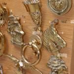 Traditional Maltese Brass Door Knockers For Sale Mdina Malta Stock Photo Alamy