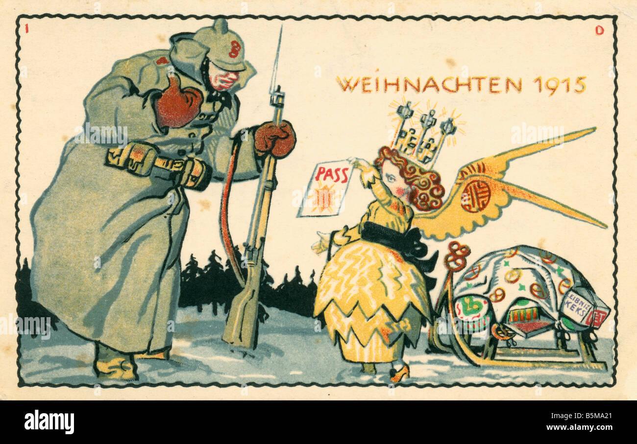2 G55 P1 1915 12 Christmas 1915 Advert Postcard WWI