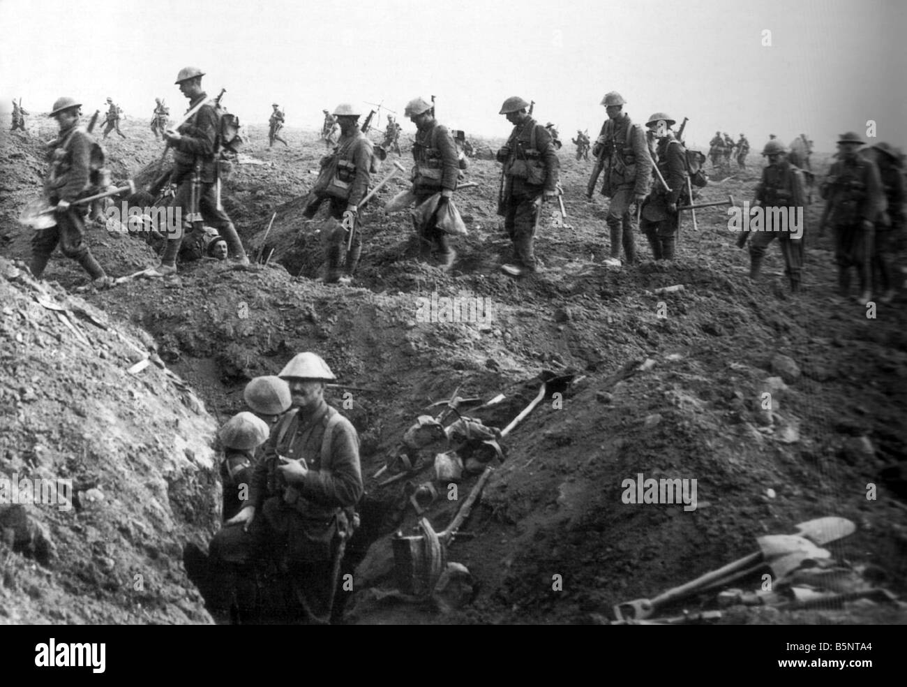 Sol Rs In Trenches During World War 1 Stock Photo
