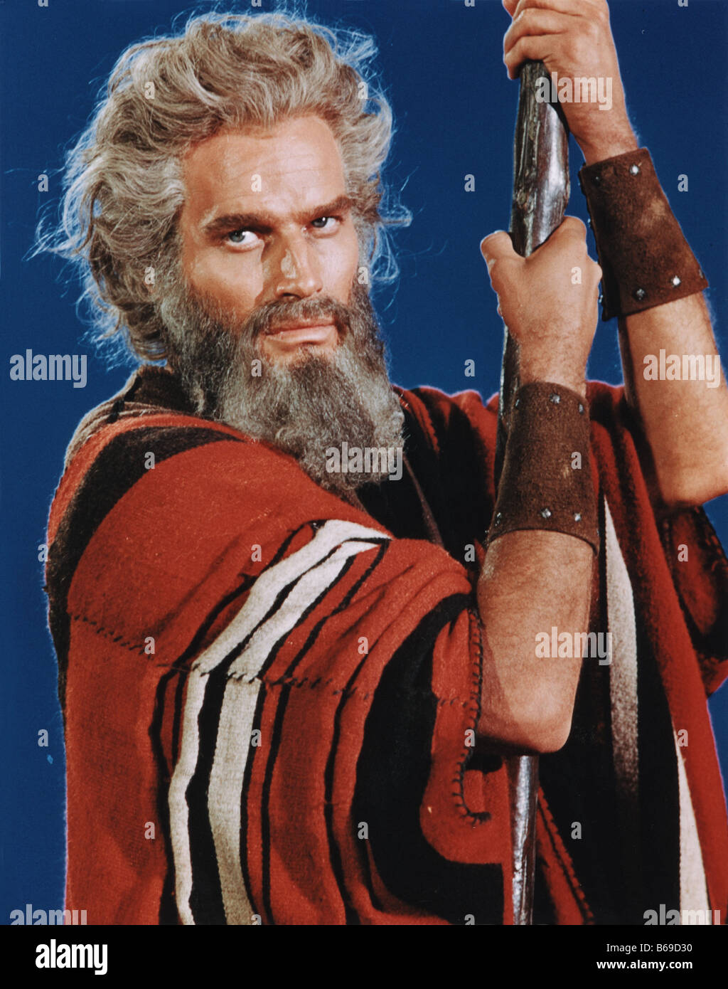 The Ten Commandments Charlton Heston As Moses In The