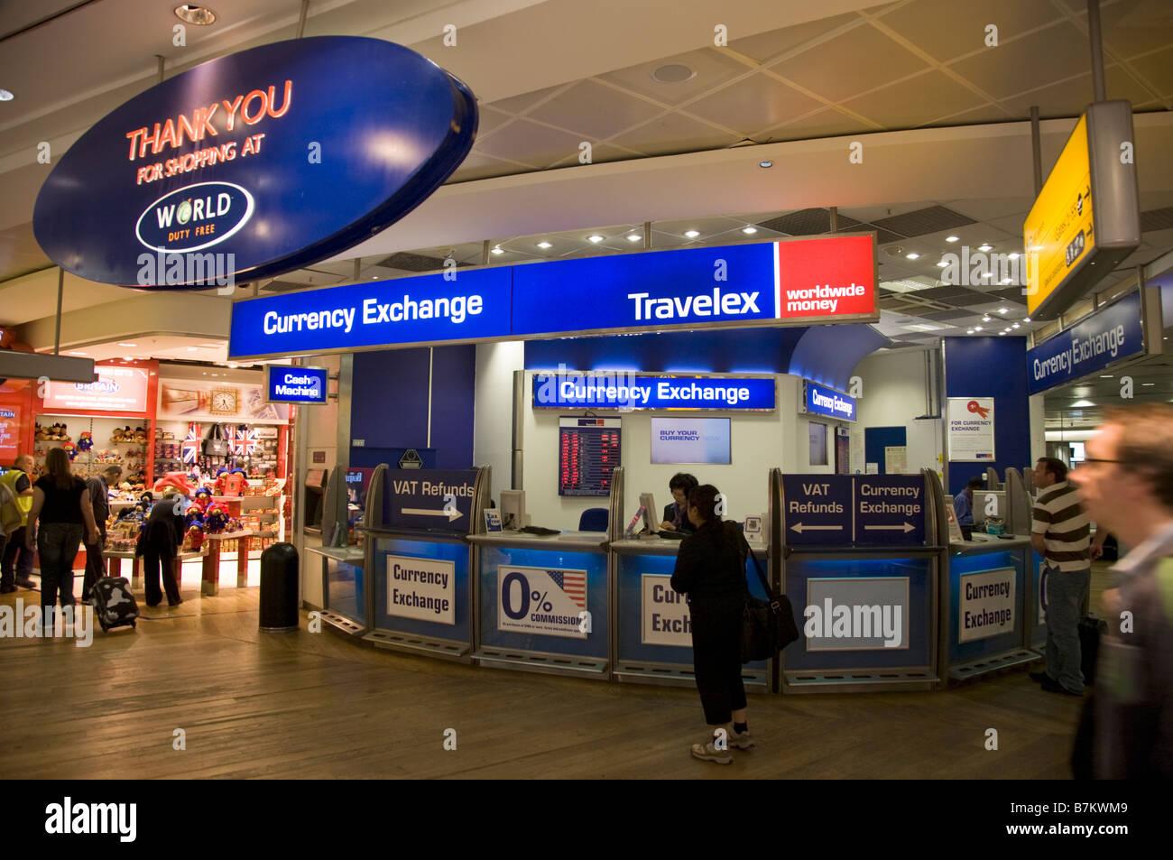bureau de change office operated by travelex at heathrow airport terminal 3 london 45