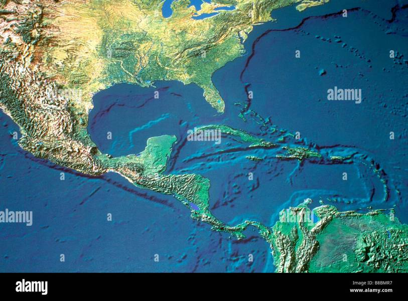Central And South America Map Stock Photos   Central And South     Map Central South America   Stock Image