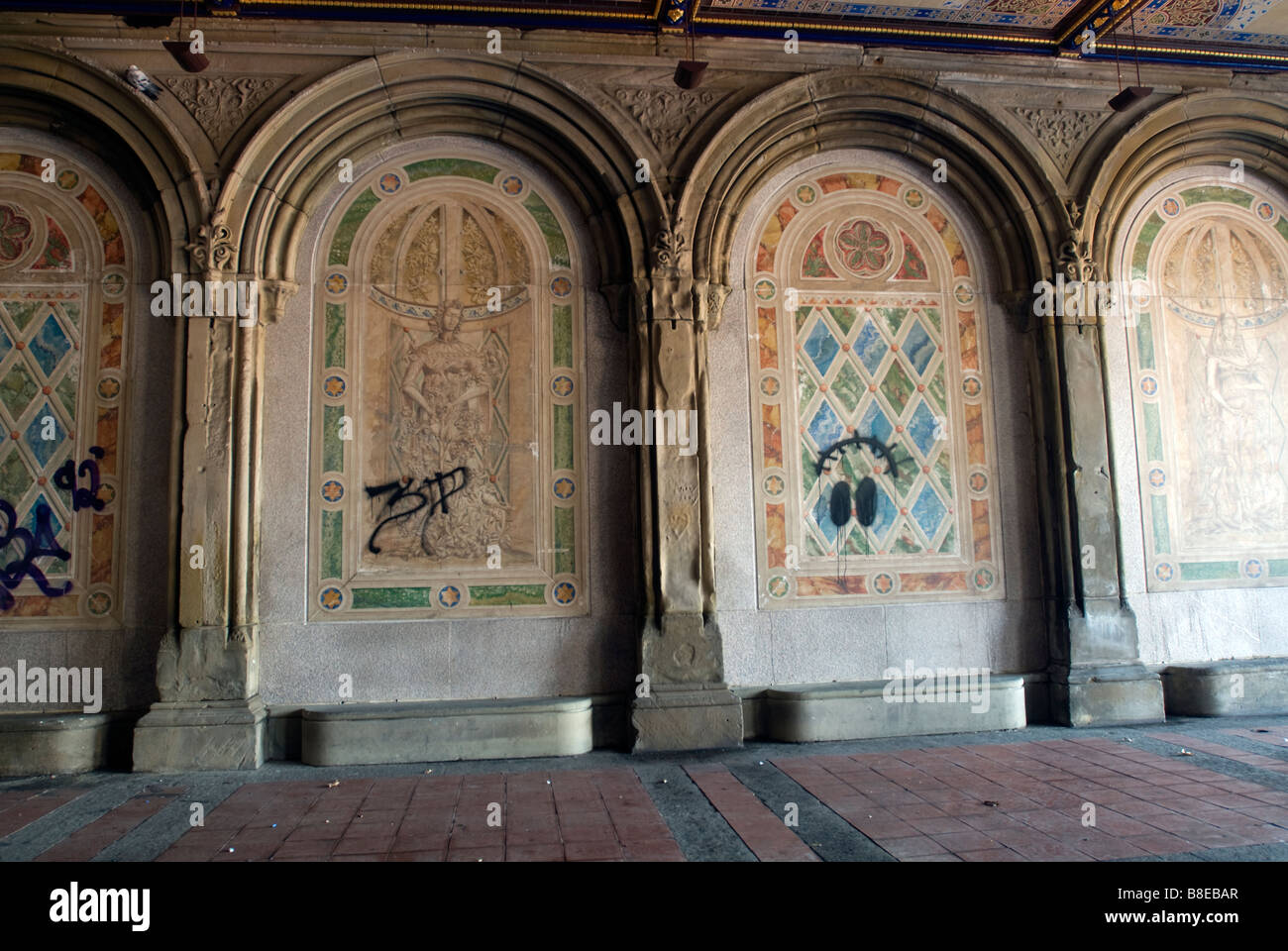 The Central Park Bethesda Terrace Arcade With The Restored