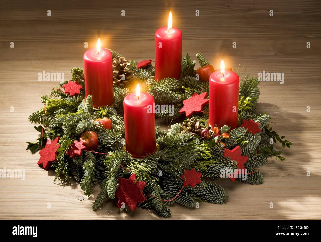Christmas Table Advent Wreath Candles Advent Time Burn