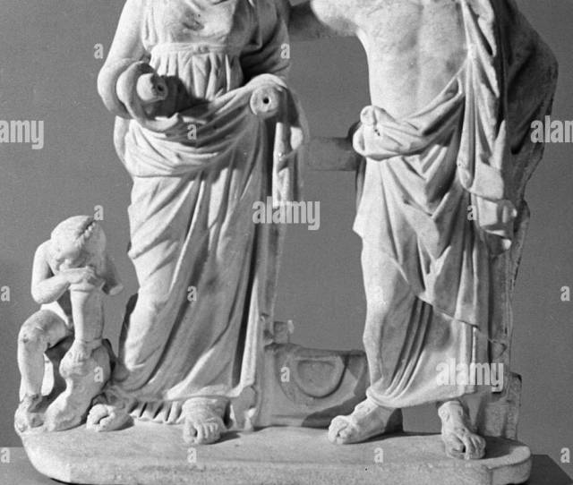 Sculpture Group Depicting Asclepius Hygiea And Erot Roman Copy Of Greek Original Iv Century B C Collection