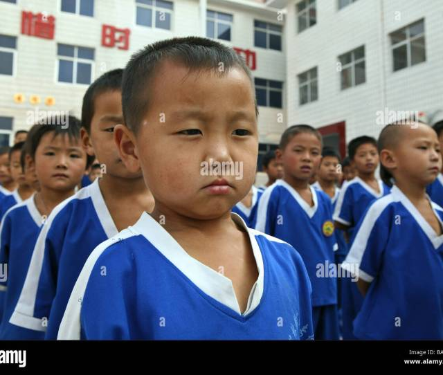 Kung Fu Training At Kindergarten Age At One Of The Many New Kung Fu Schools In Dengfeng Song Shan Henan Province China