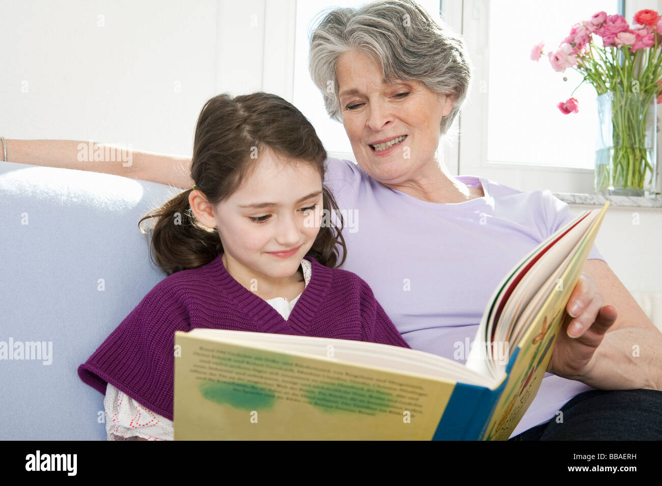 Senior Female Reading Children Stock Photos Amp Senior Female Reading Children Stock Images