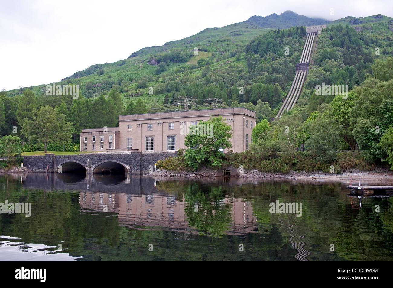 Hydro Electric Power Station Scotland Stock Photo