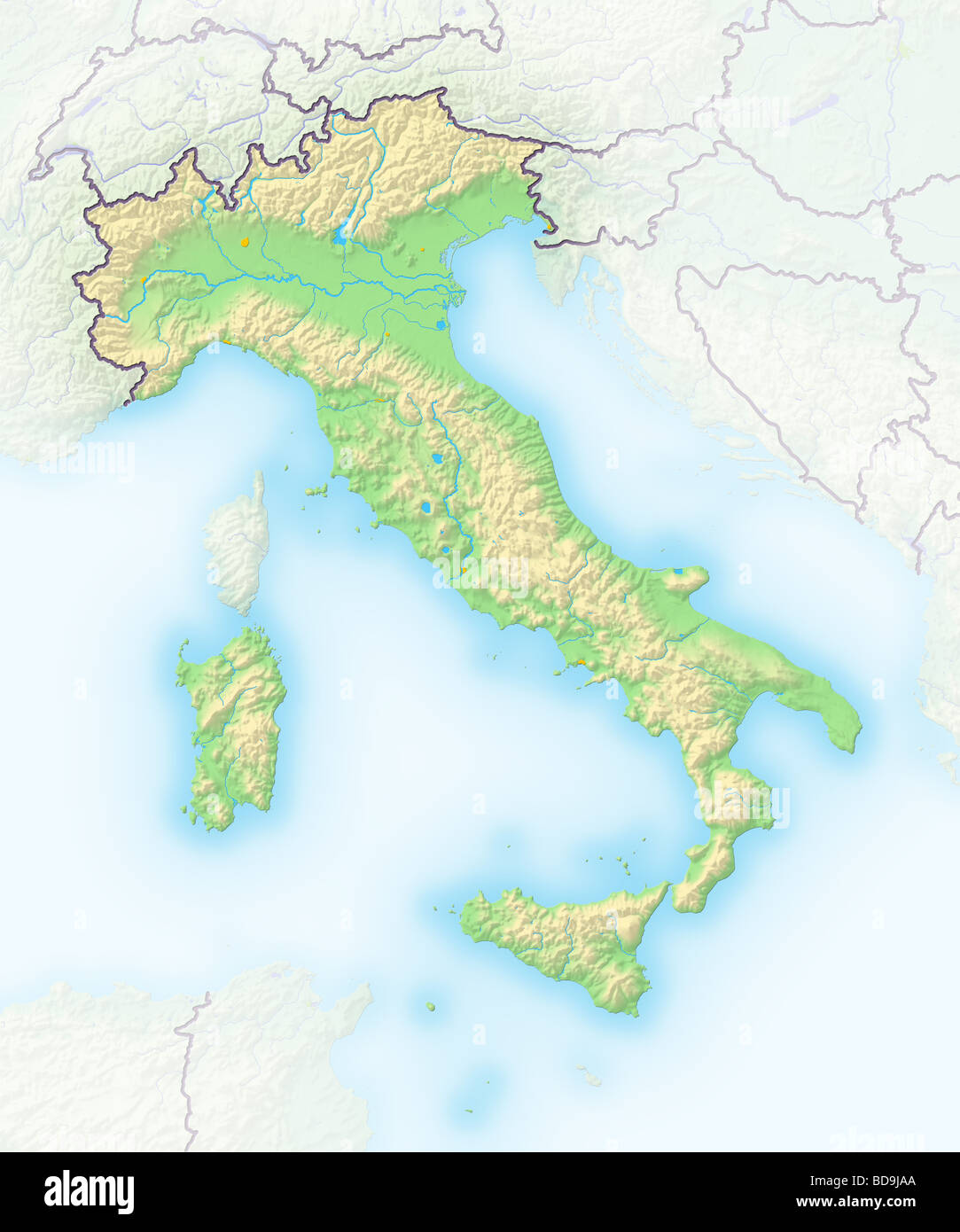 Italy Map High Resolution Stock Photography And Images
