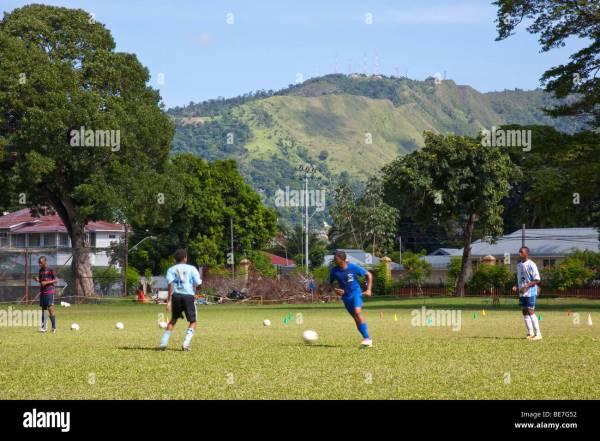 Football Practice in Queens Park Savannah in Port of Spain ...
