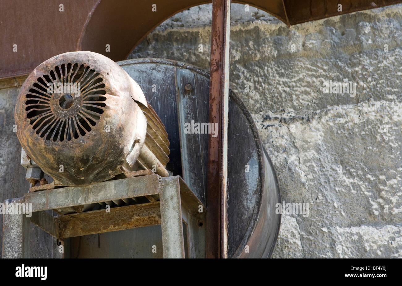 https www alamy com stock photo old industrial ventilation fan russia 26539202 html